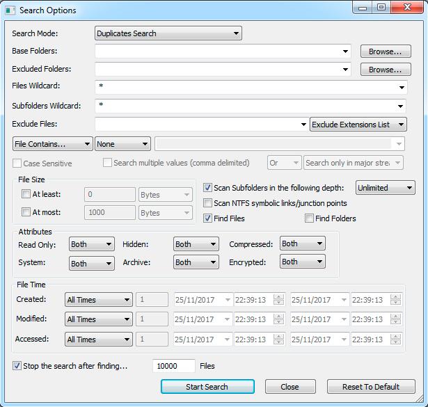 searchmyfiles buscar archivos duplicados