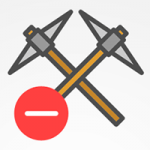 bloquear mineros icono