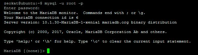 acceso mysql consola