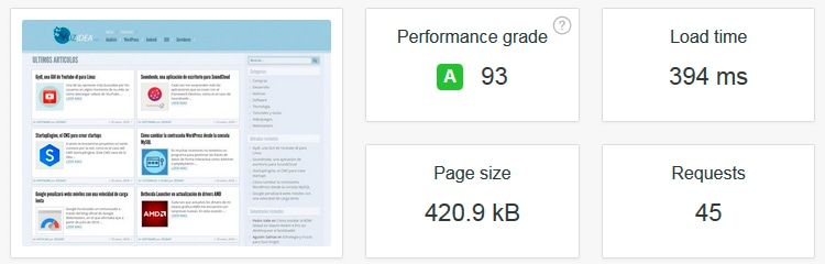 pingdom tools reporte velocidad web