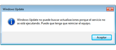error windows update no puede buscar actualizaciones