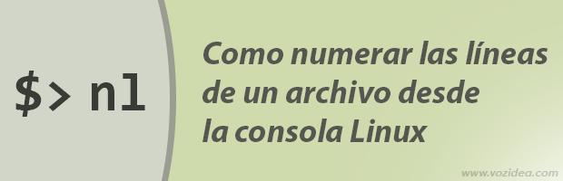 Como numerar las líneas de un archivo en la consola Linux
