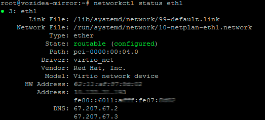 networkctl status dispositivo ubuntu