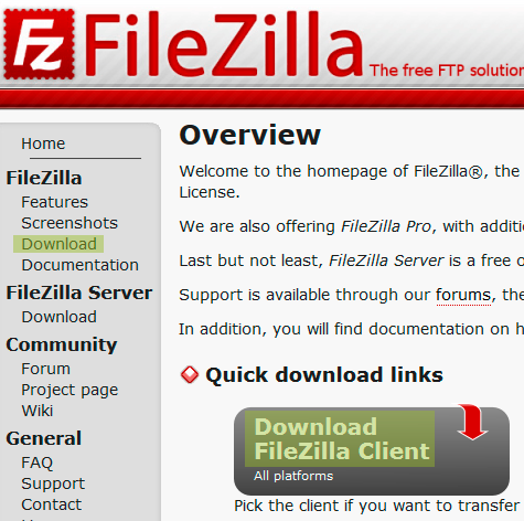 descargas filezilla
