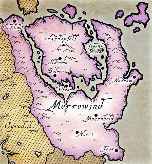 mapa the elder scrolls 3 morrowind