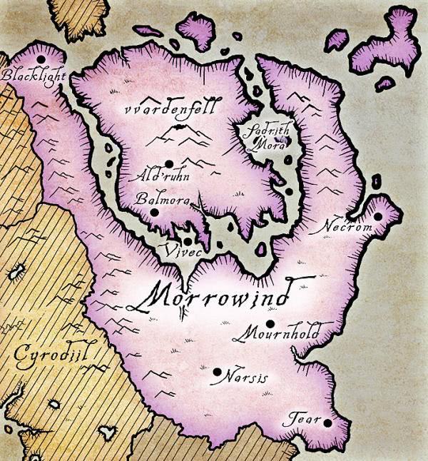 mapa the elder scrolls 3 morrowind