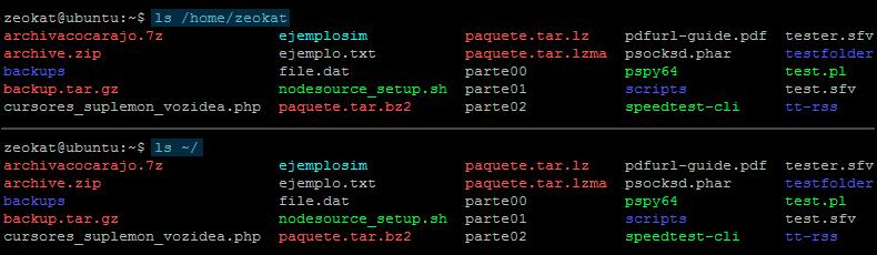 Alias de ruta de directorio personal en sistemas Unix