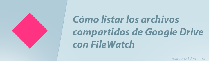 listar los archivos compartidos de Google Drive con Filewatch