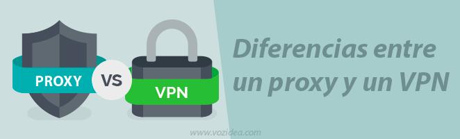 Diferencias entre un proxy y un VPN